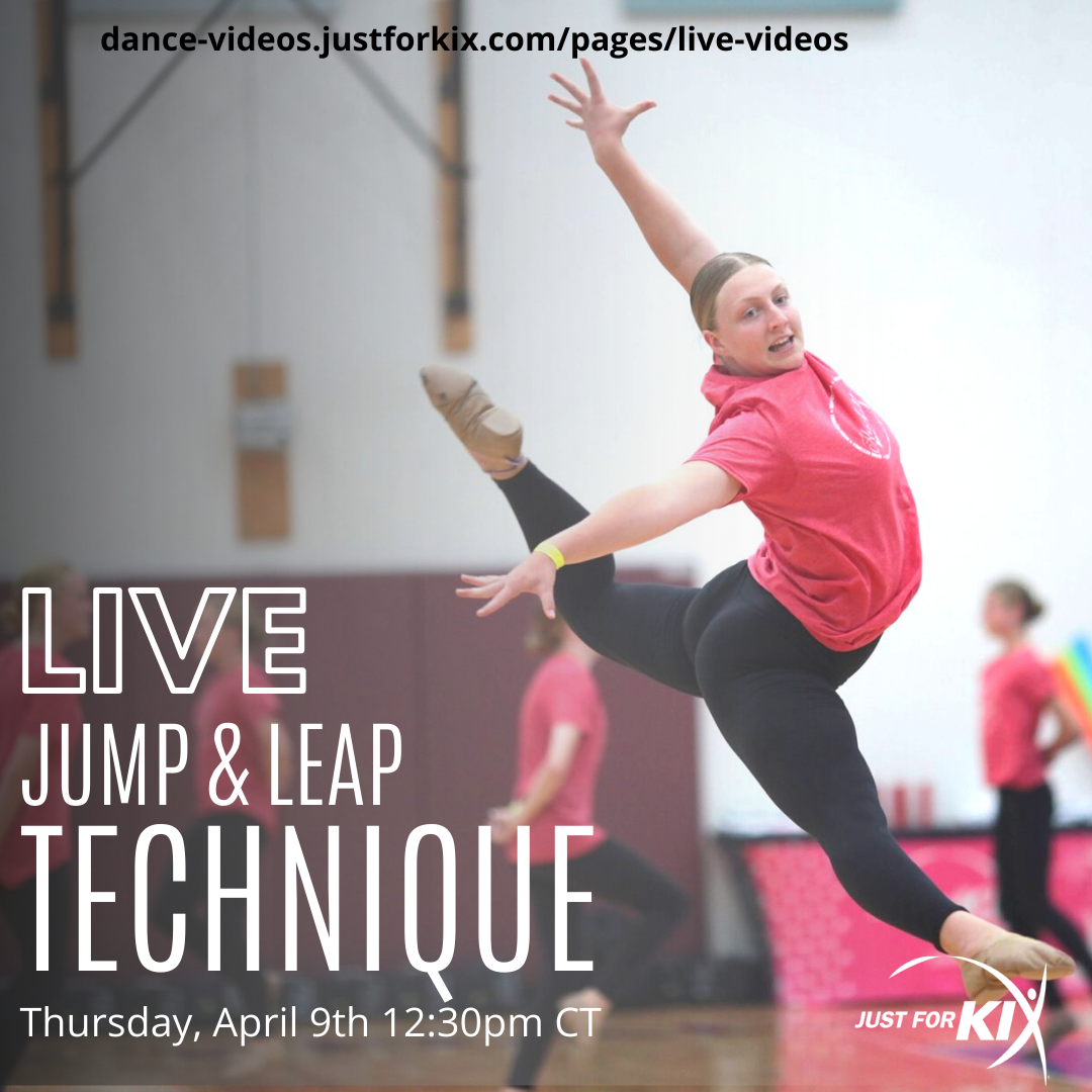 April 9th 12:30pm CST - Leap & Jump Tech - Instructor: Ali