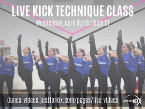 April 8th 12:30pm CST - Kick Tech - Instructor: Ali