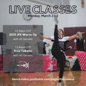 March 23rd 12:30pm CST - 2015 JFK Camp Warm-Up - Instructor: Ali