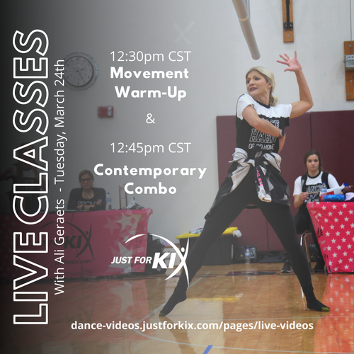 March 24th 12:45pm CST - Comtemporary Combo - Instructor: Ali