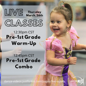 March 26th 12:30pm CST - Pre-1st Grade Warm-Up - Instructor: Ali