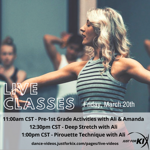 March 20th 11:00am CST - Pre-1st Grade Activities - Instructor: Ali & Amanda
