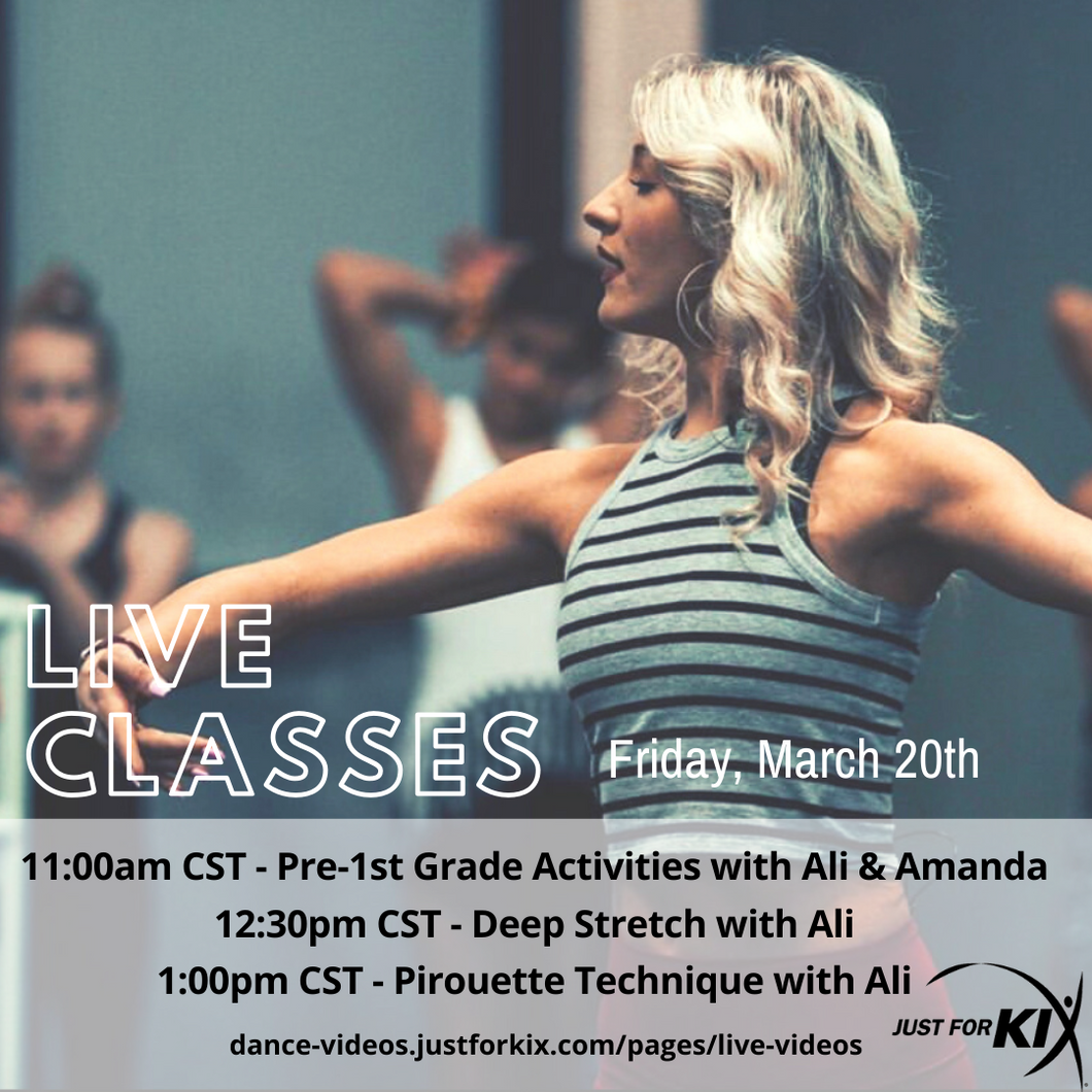 March 20th 12:30pm CST - Deep Stretch - Instructor: Ali