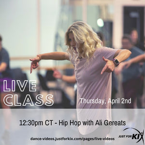 April 2nd 12:30pm CST - Hip Hop - Instructor: Ali & Adina