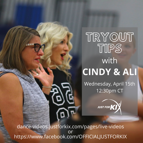 April 15th 12:30pm CST - Try Out Tips - Instructor: Ali & Cindy