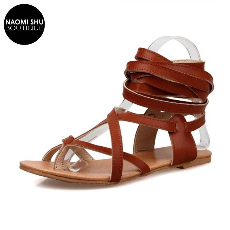 FERGI Gladiator Boho Lace Up Sandal