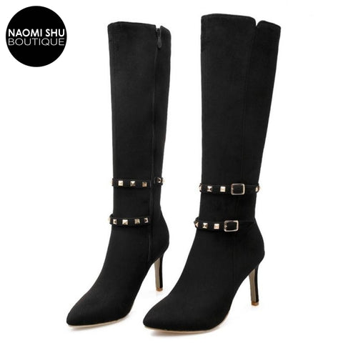 GXNZI Lace Up High Heel Ankle Bootie