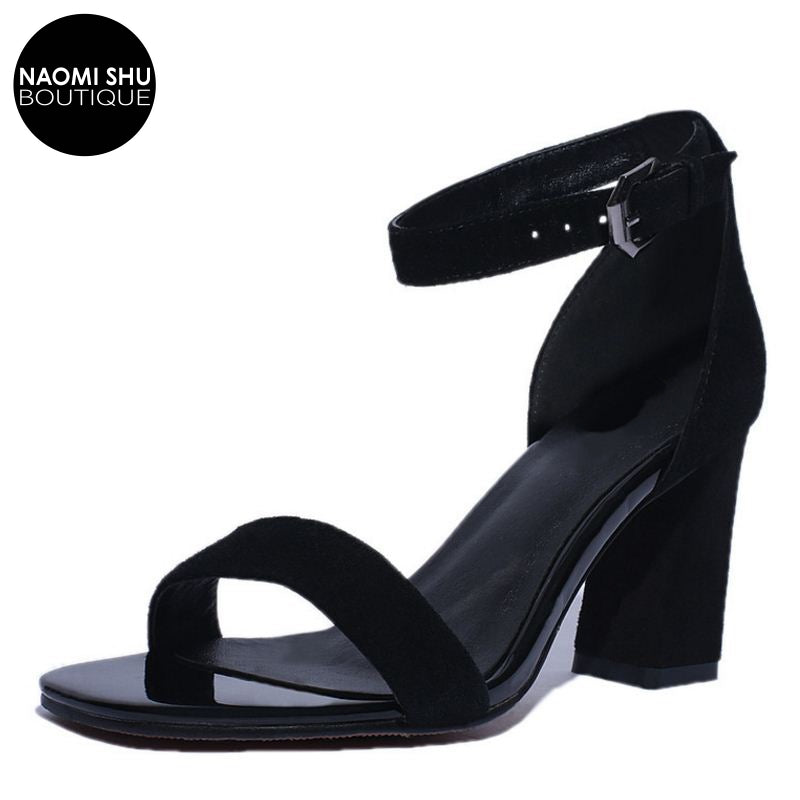 ELEGANTO Bona Fide Leather Heeled sandal