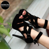 OOMPH Cross Tied Platform Heel