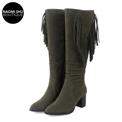 MONGO Sleek Fur Over Knee Bootie