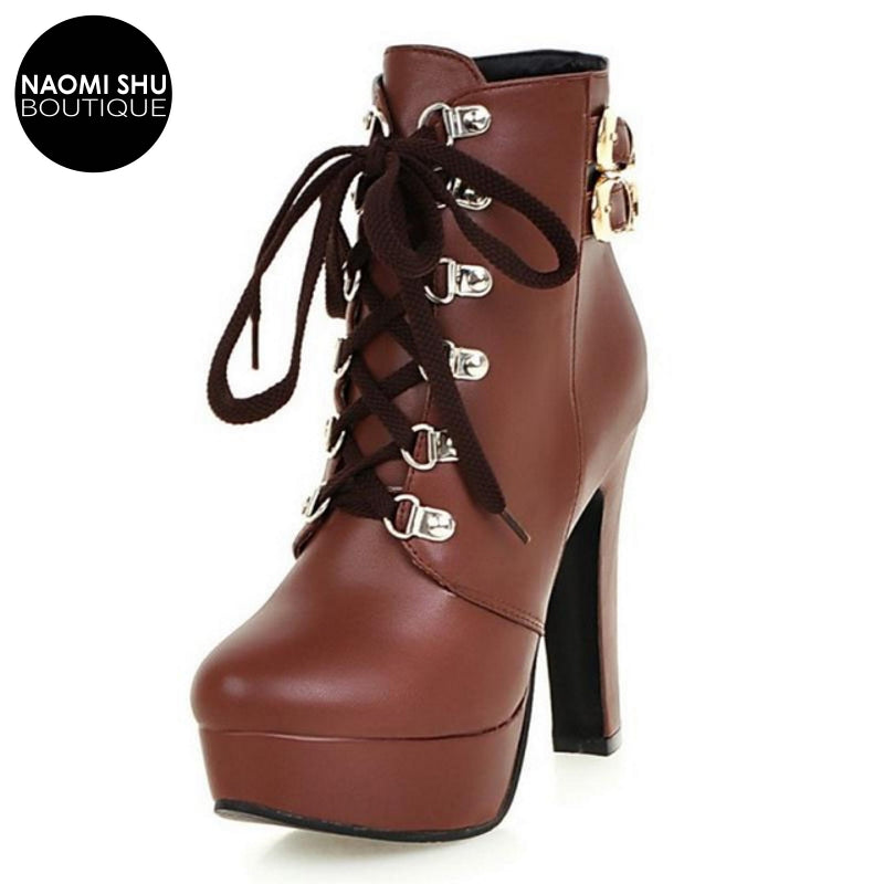 MAGMA Double Buckle Platform Martin Boot