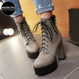 GUSTO Chunky Riveted Rocker Platform Boot