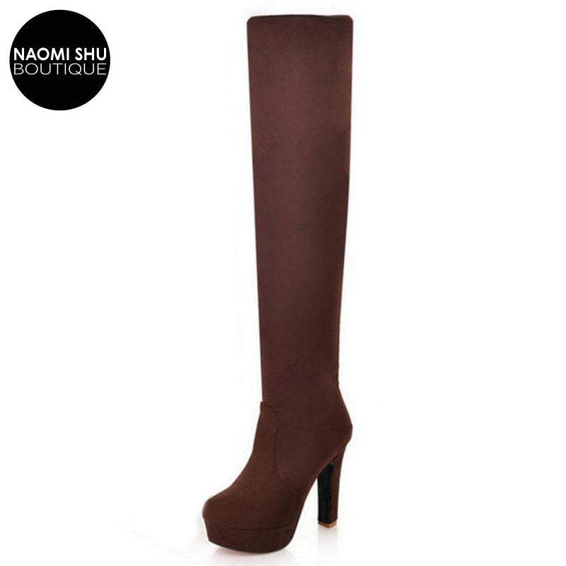 VIPER Killin' It Suede Platform Knee Boot