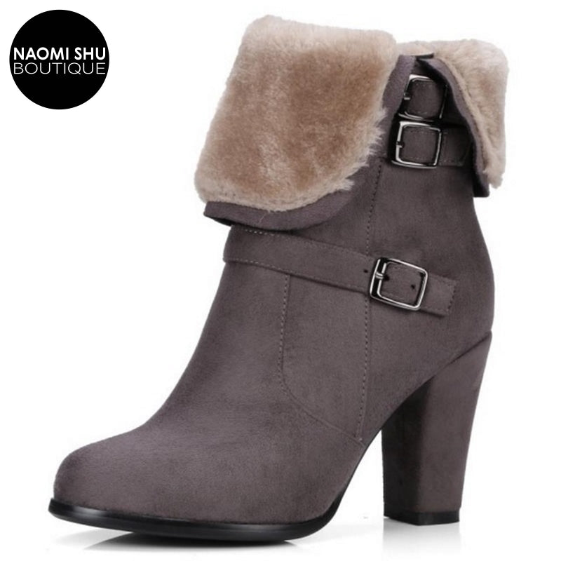 MACQUI Chic Side Zipper Heel Bootie