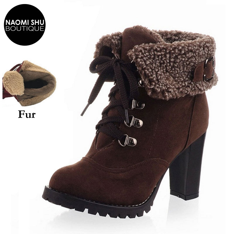 SERAC Plush Flanked Winter Heel Boot