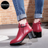 MODISH Buckle Strap Ankle Boot