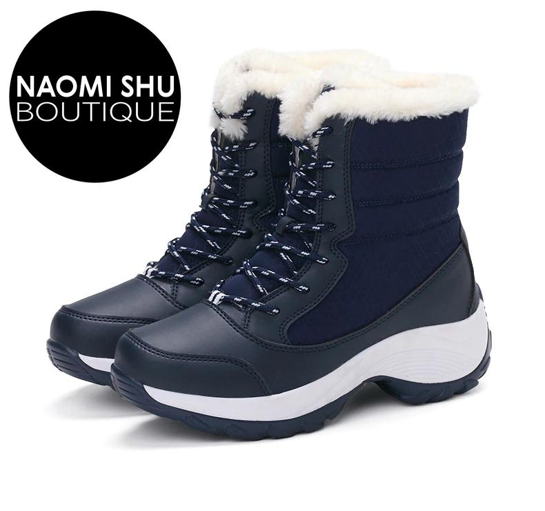 BXENA  Winter Snow Boots