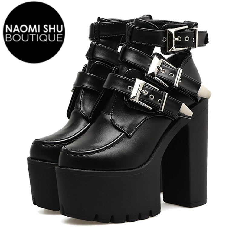 APRIL Ankle High Heels Boots