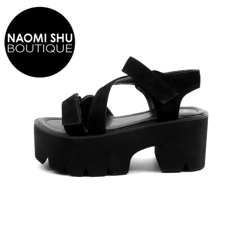 JULIA Ankle Strap Platform Sandals