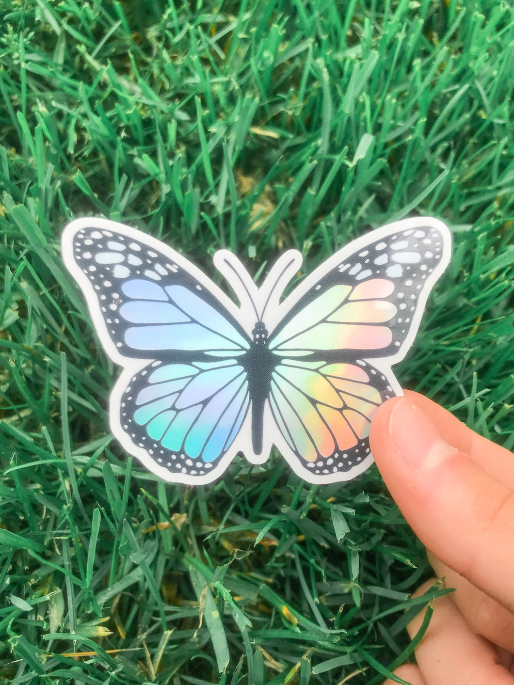 Holographic Butterfly Sticker