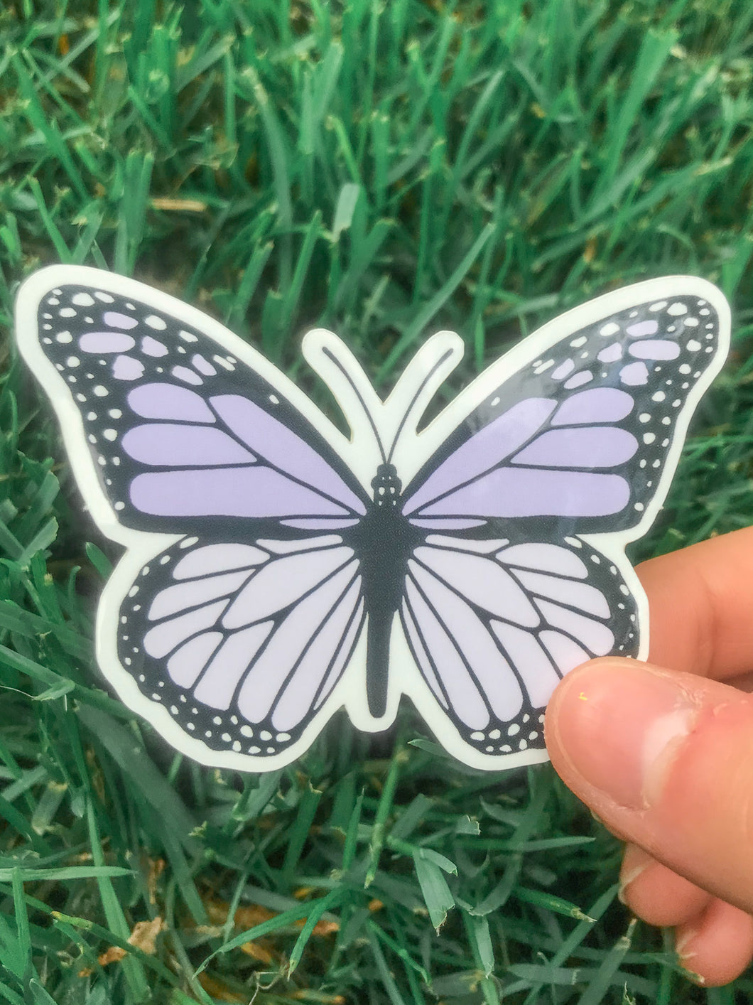 Lilac Butterfly Sticker