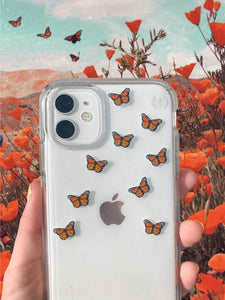 "Orange 0.5"" Mini Butterfly Stickers"