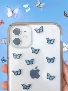 "Light Blue 0.5"" Mini Butterfly Stickers"