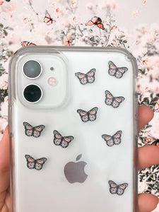 "Light Pink 0.5"" Mini Butterfly Stickers"