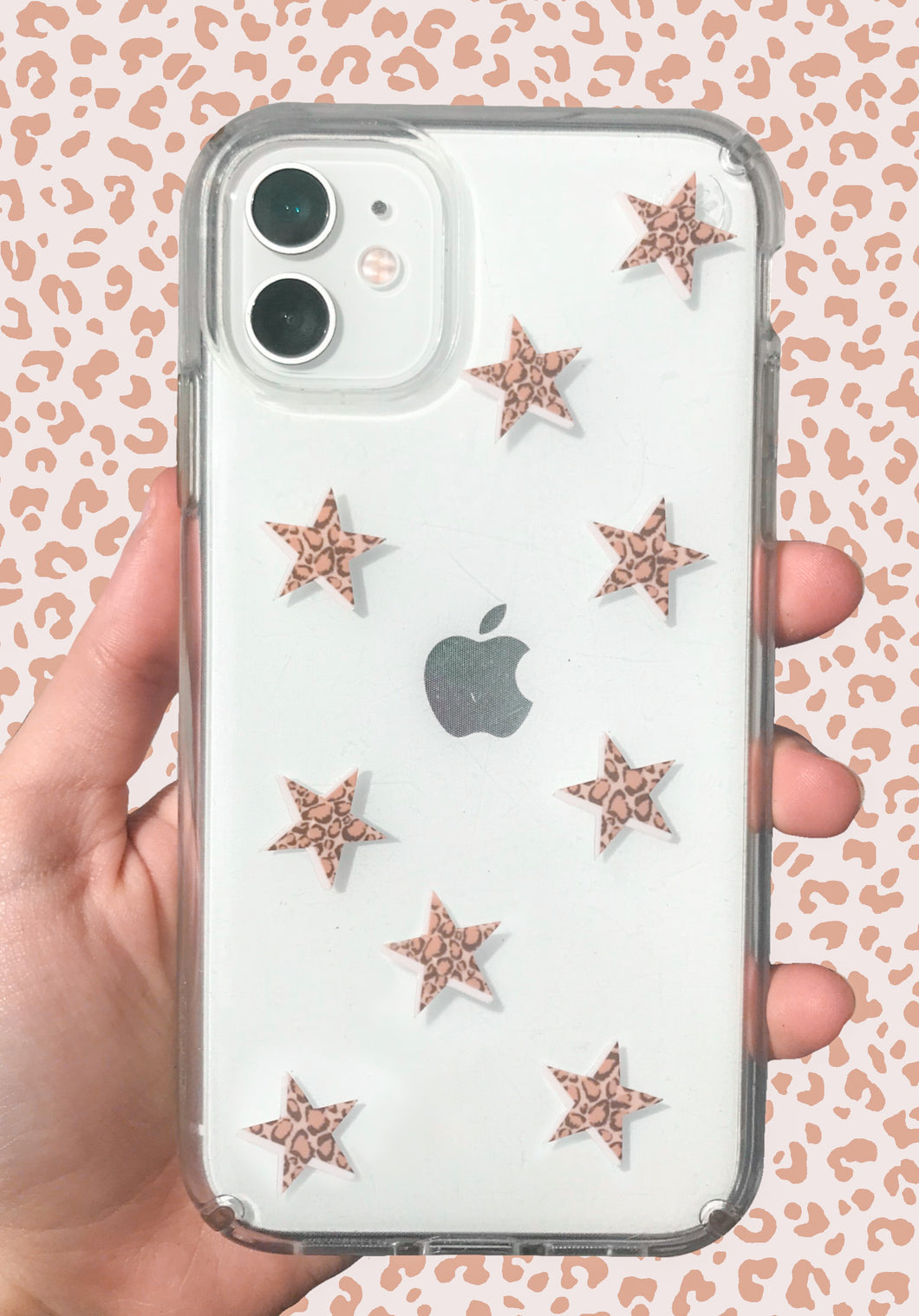 Cheetah Print Mini Star Stickers