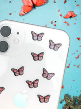 "Load image into Gallery viewer, Coral 0.5"" Mini Butterfly Stickers"