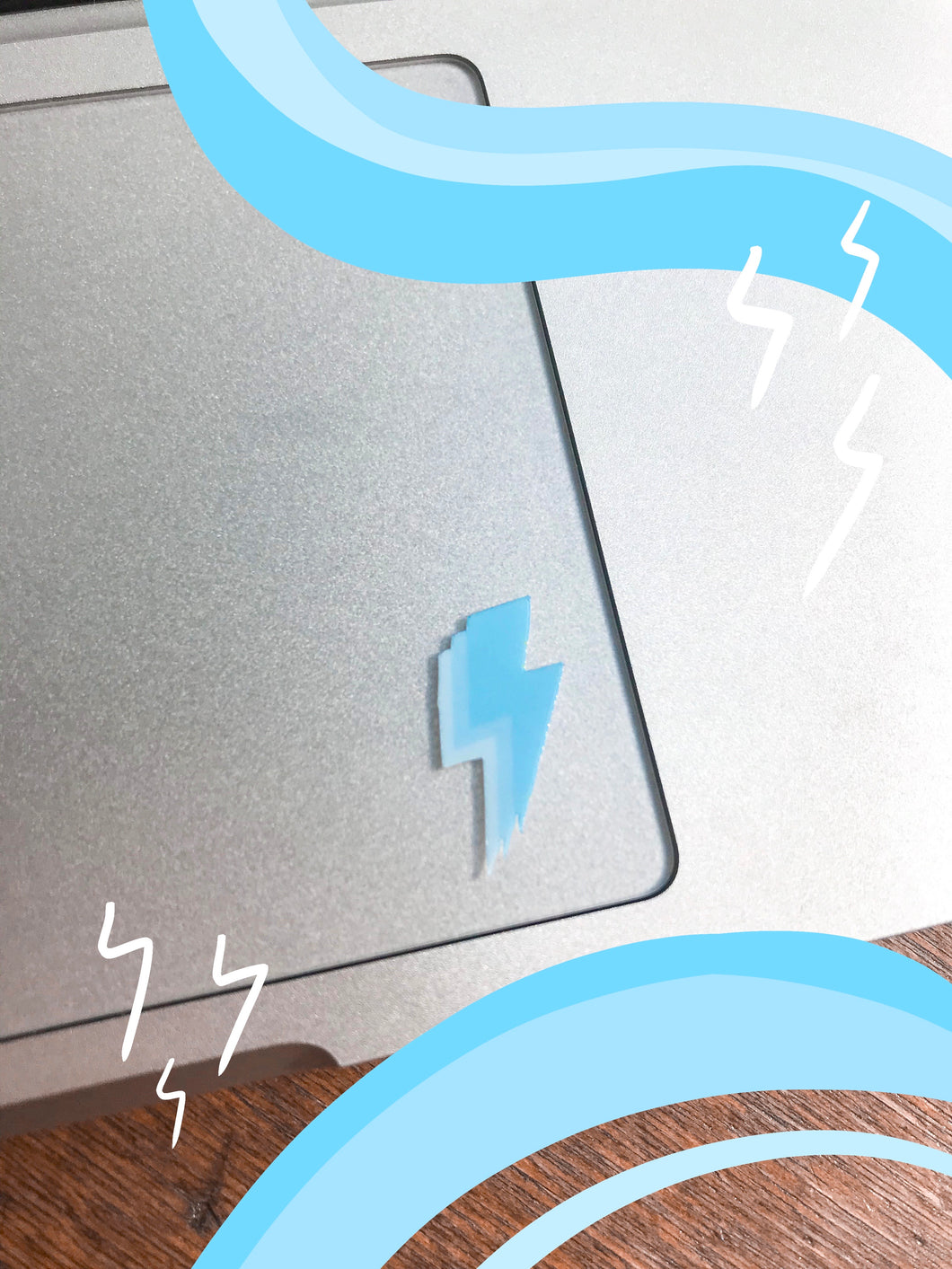 Light Blue Mini Lightning Bolt Stickers