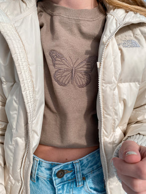 Brown Butterfly Tee