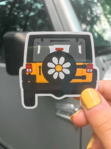 Yellow Jeep Sticker