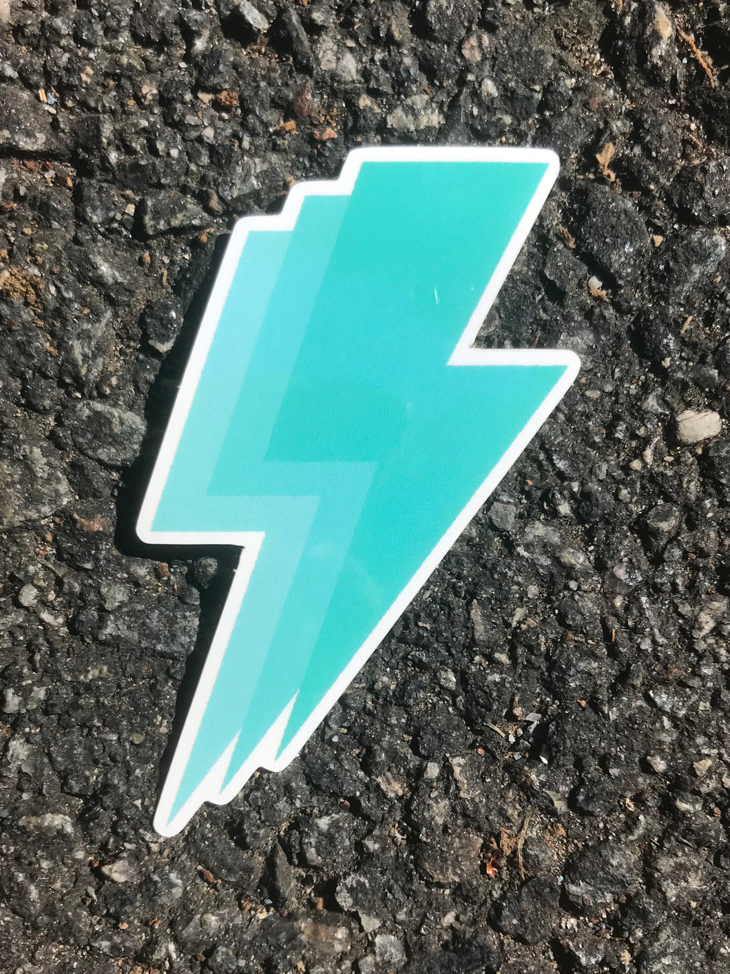 Aqua Lightning Bolt Sticker