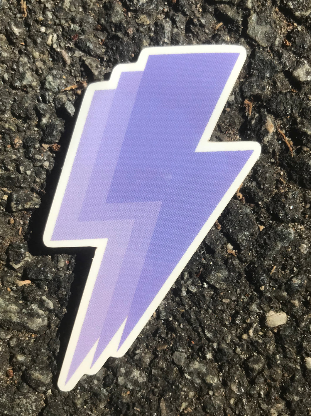 Lilac Lightning Bolt Sticker