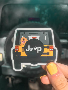 Dog Lover Jeep Sticker