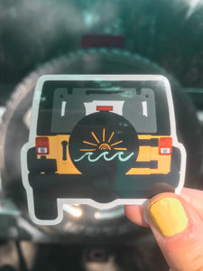 Beach Jeep Sticker