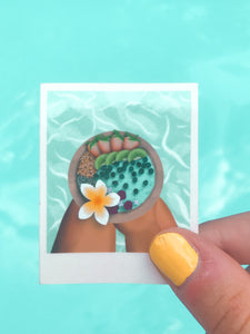 Smoothie Bowl Polaroid Sticker