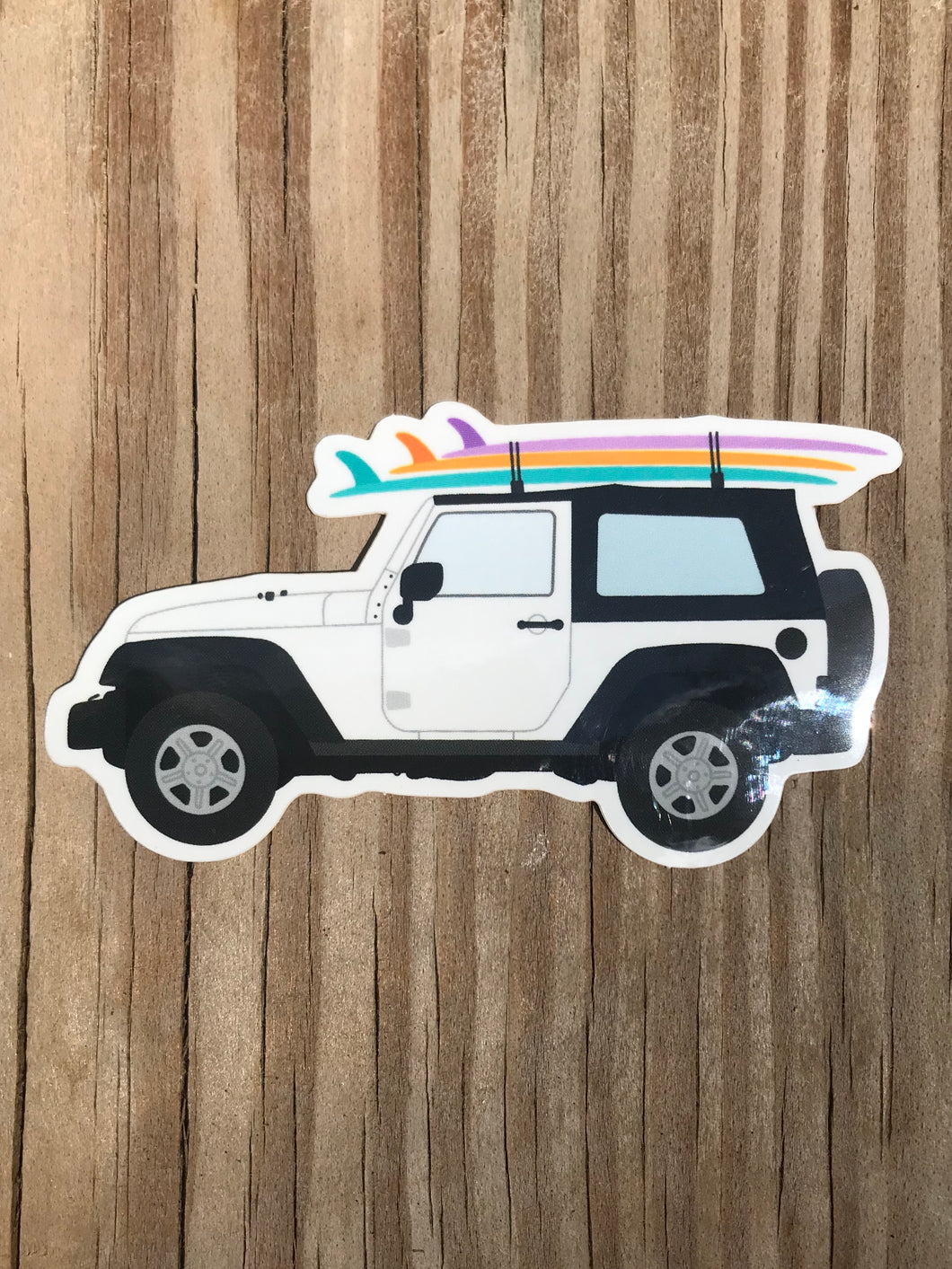 Surf Jeep Sticker