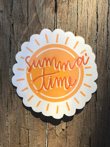 Summa' Time Sticker