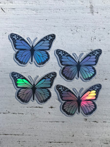 "1.5"" Mini Holographic Butterfly Sticker Pack"