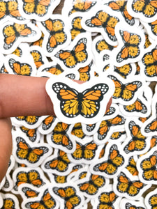 "1"" Mango Mini Butterfly Stickers"