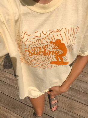 Let's Go Surfing Tee