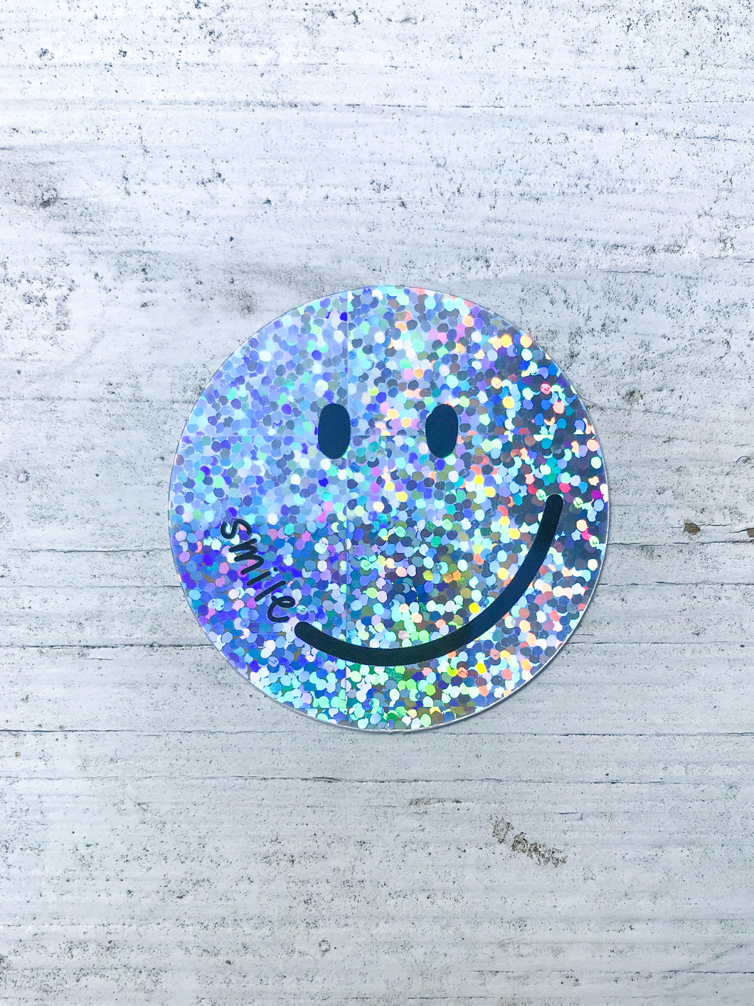 Glitter Smile Sticker