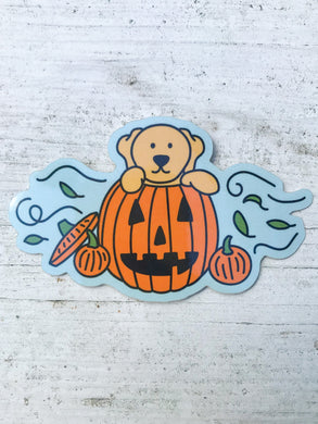 Pumpkin Puppy Sticker
