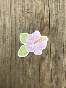 Lilac Hibiscus Sticker