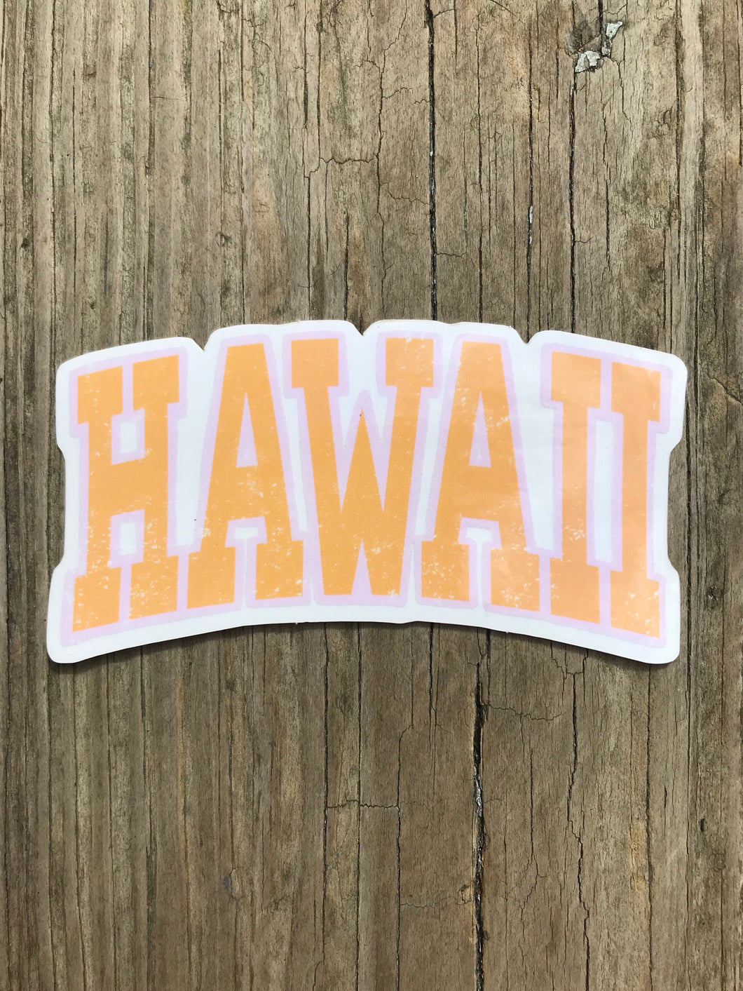 Hawaii Clear Sticker