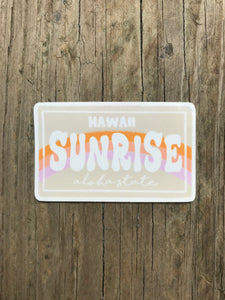 Hawaii Sunrise License Plate