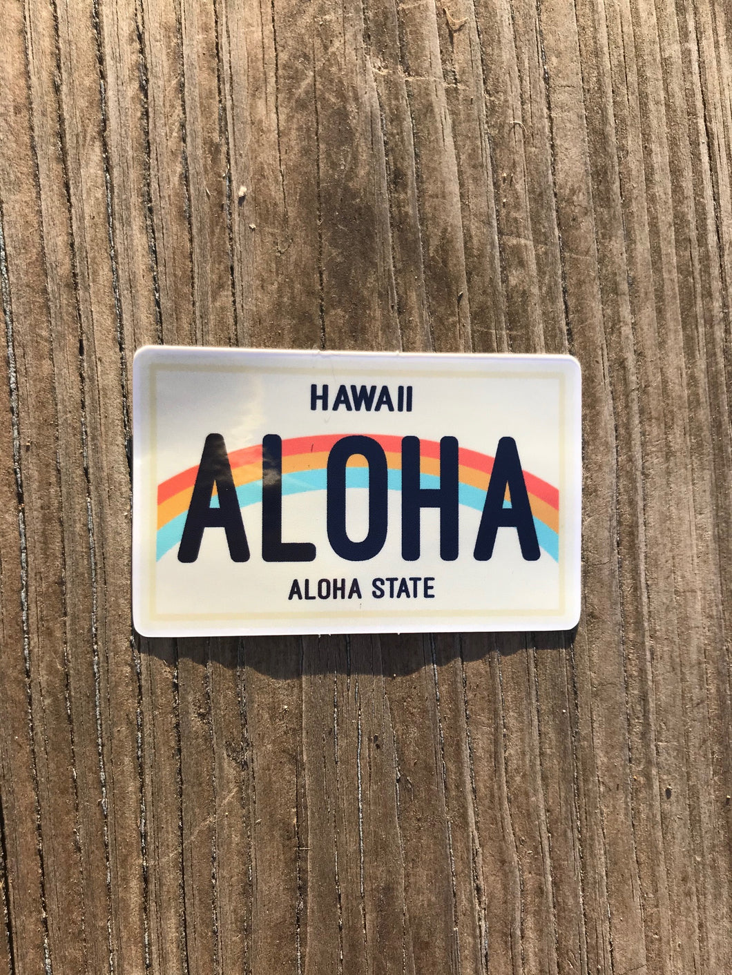 Aloha License Plate Sticker