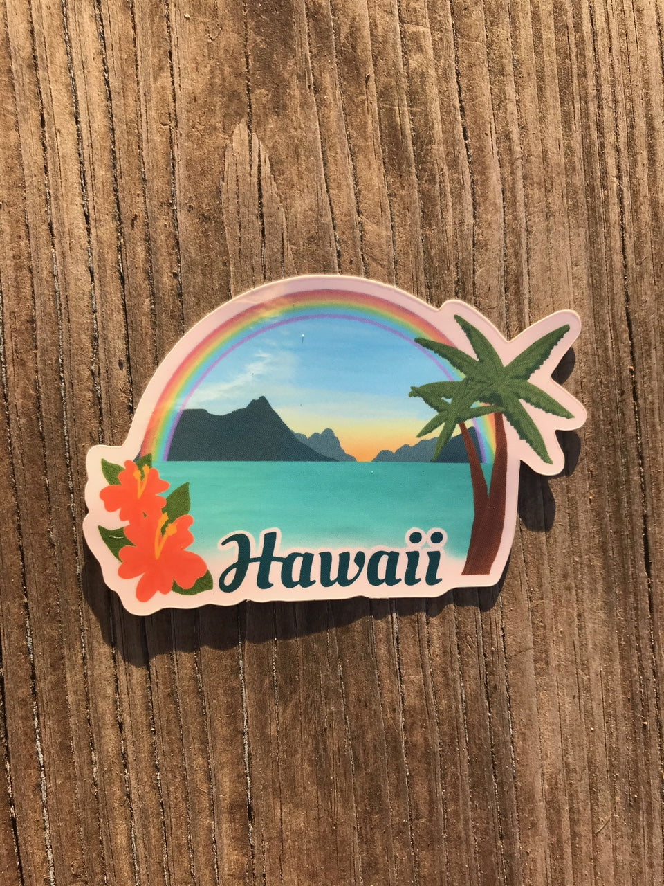 Hawaii Scene Sticker
